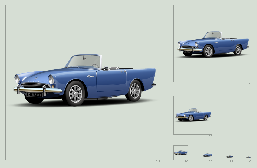 Sunbeam Alpine icon by hbielen
