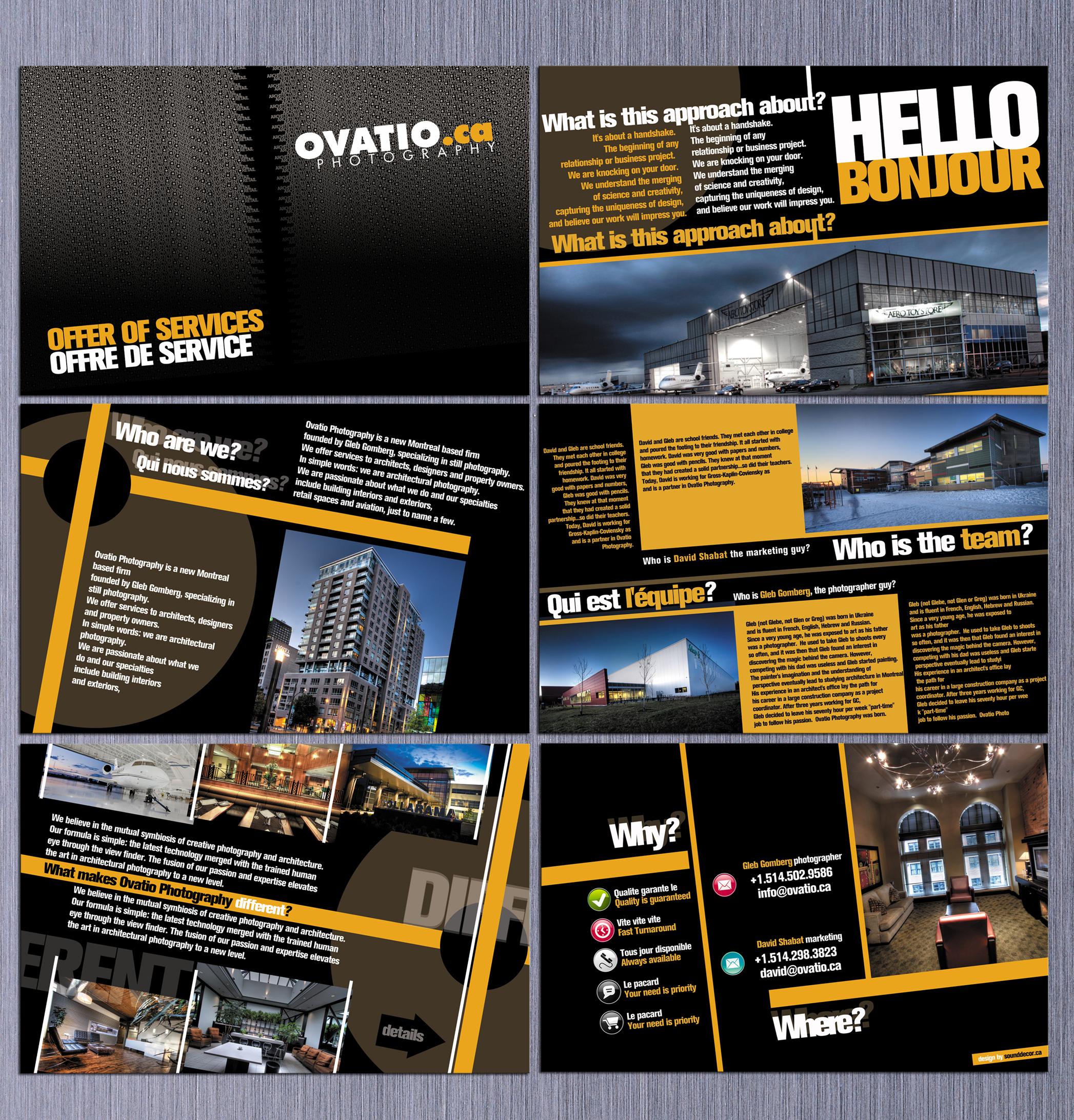 brochure for ovatio.ca by sounddecor