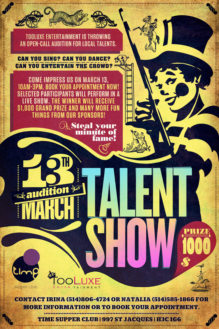 Poster For Talent Show By Sounddecor On Deviantart