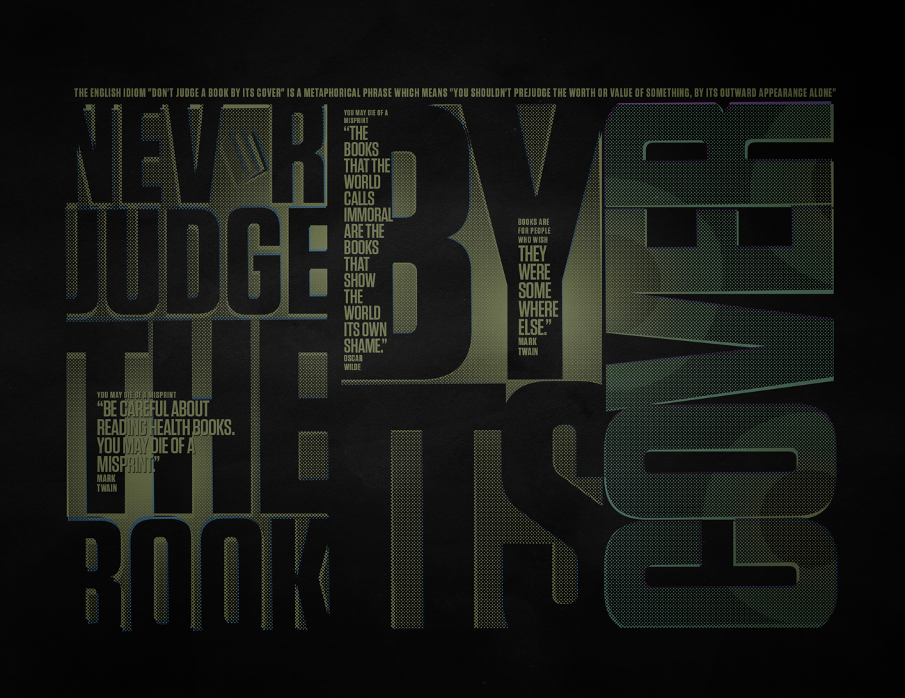 never judge the book poster by sounddecor