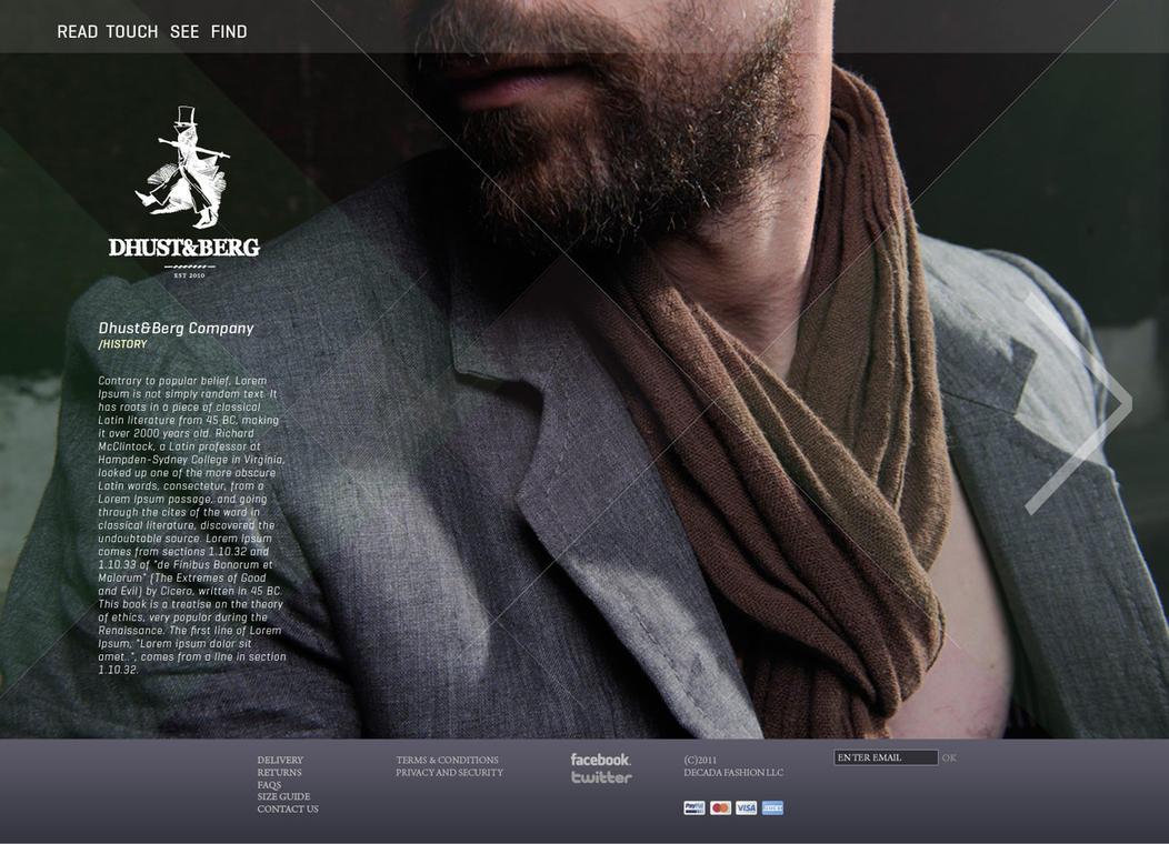 fashion designer website by sounddecor