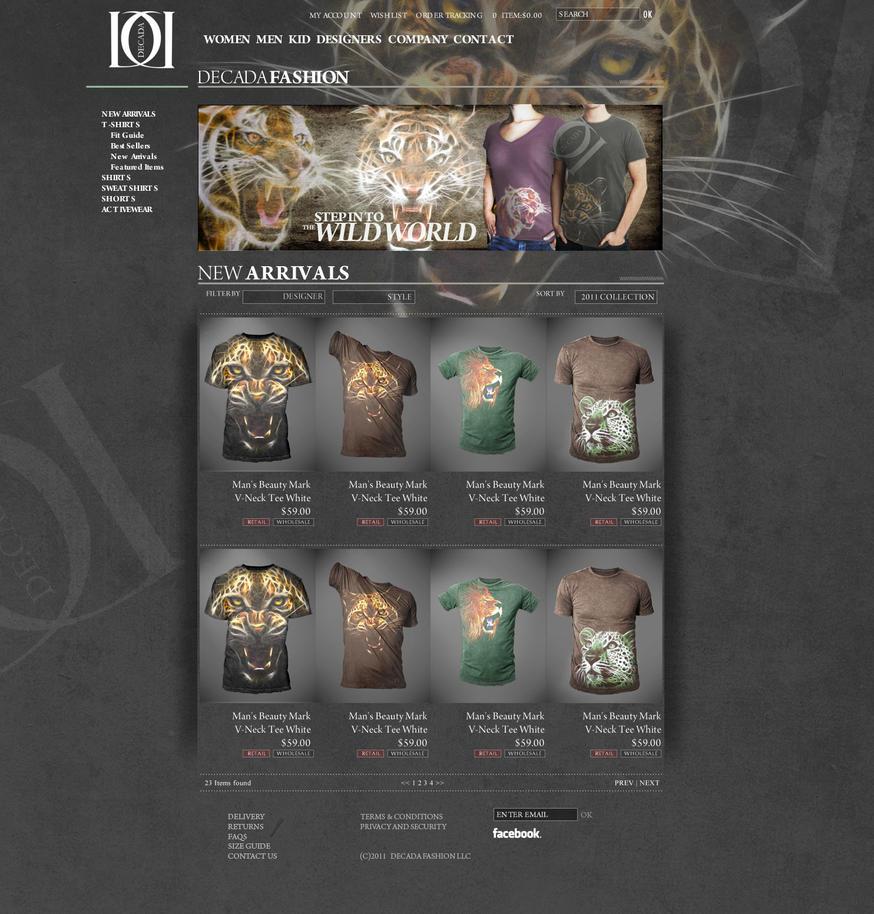 onlline store design by sounddecor