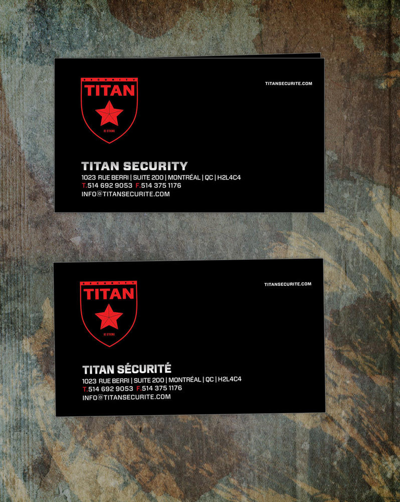 business card for security company TITAN by sounddecor on DeviantArt