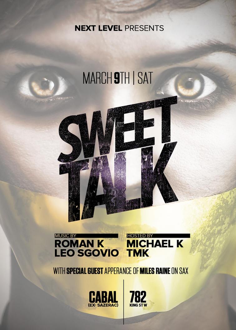 Flyer Sweettalk by sounddecor