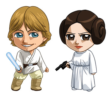 Star Wars: Luke and Leia by cosplayscramble
