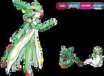 Pokemon Fusion I Rayquaza x Gardevoir I