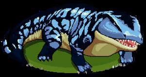 Pixel Art: Labyrinthodontia by StellarKnight1