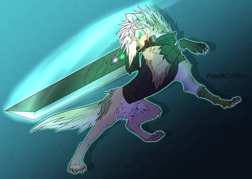 Art Trade - Animal AU Cloud Strife