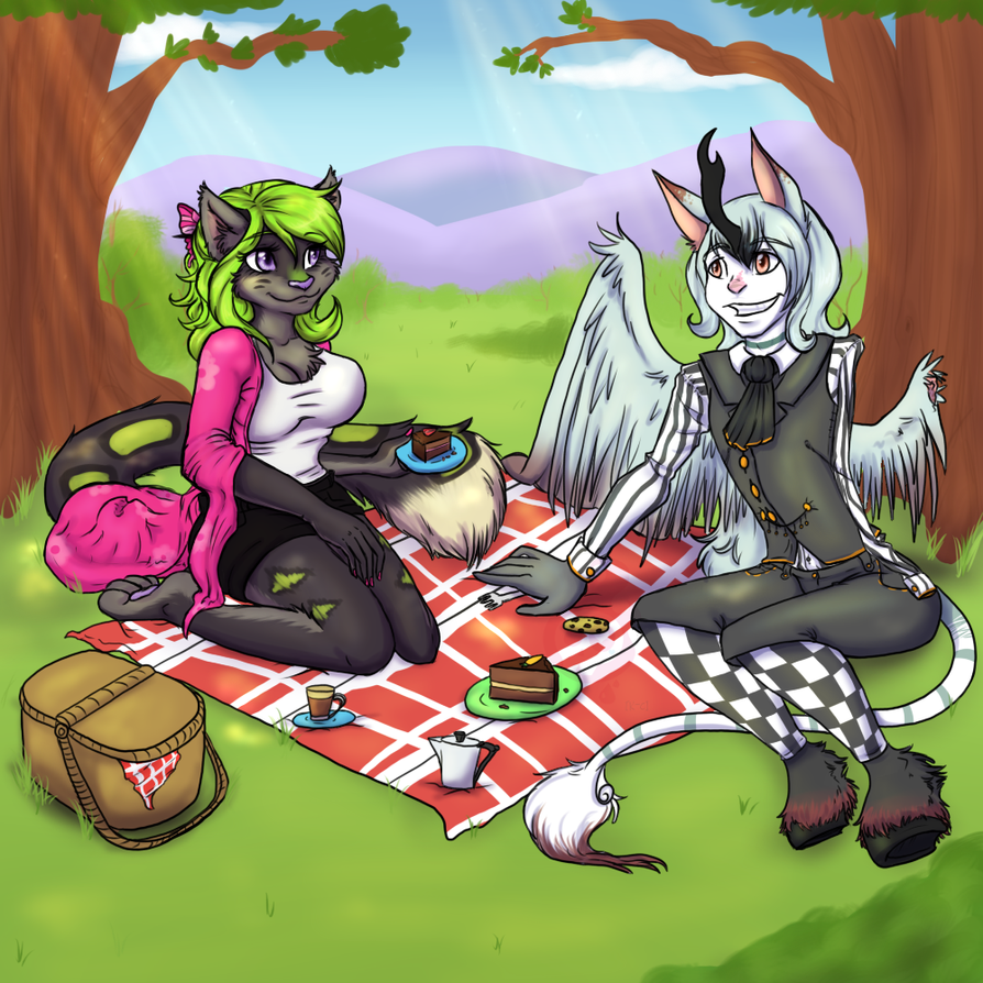 Picnicking by MizAmy
