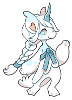 #823 Charity Blessed Kryptox- Ice Unicorn -Closed by Kandy-Cube