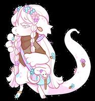 #1713 BB Fauna - Albino Snake by Kandy-Cube