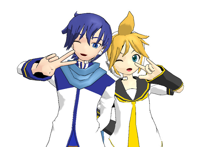 MMD - KAITO and Len by mitchika2