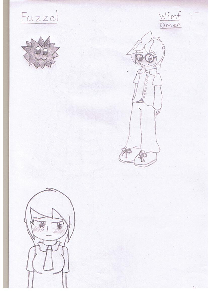 Wimf Omen, Fuzzel and Asuku by mitchika2