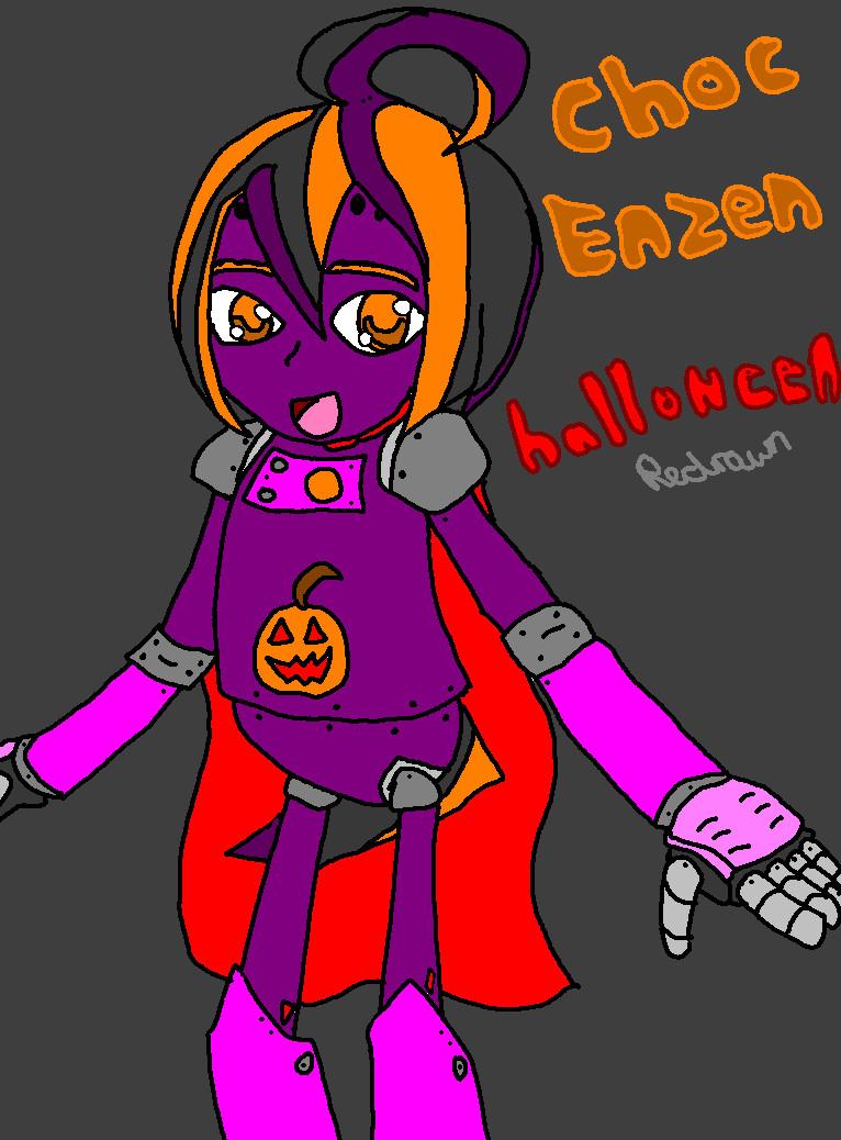 Choc - halloween redrawn by mitchika2
