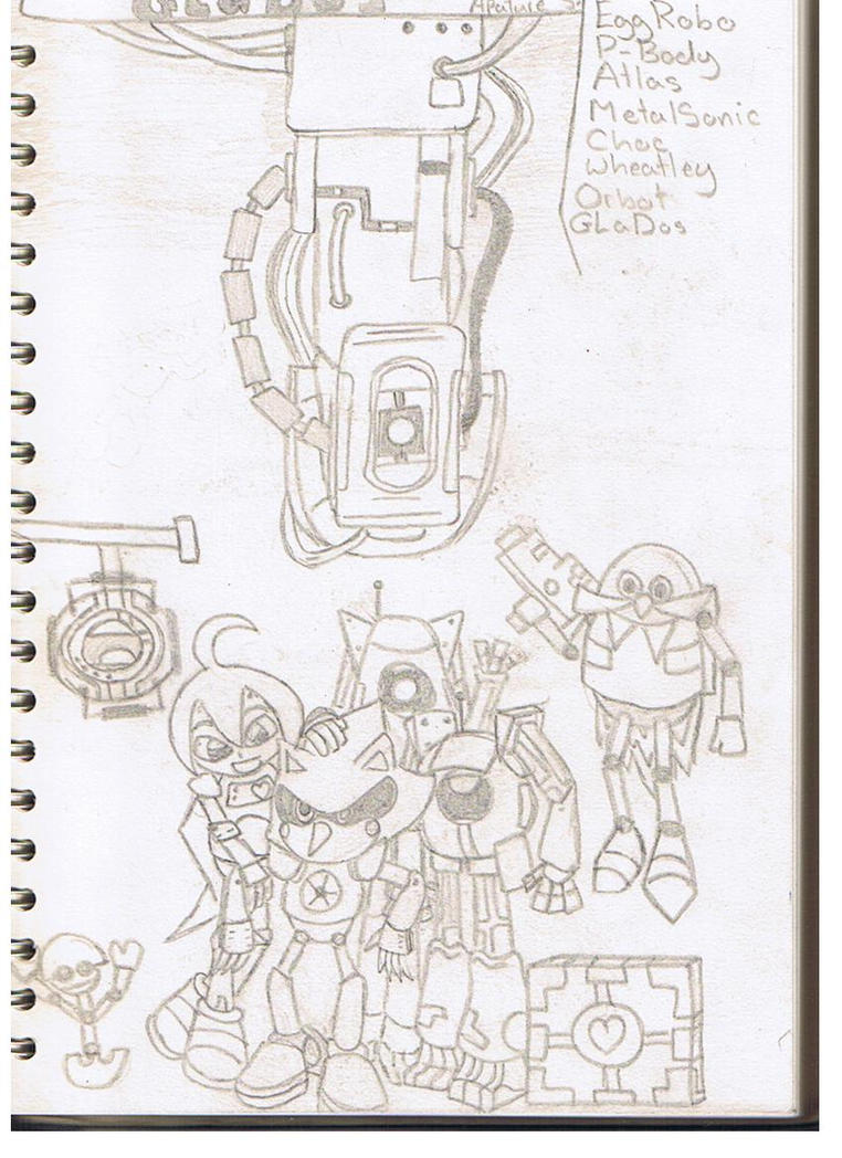 ART - Group of robots -unfinished- by mitchika2