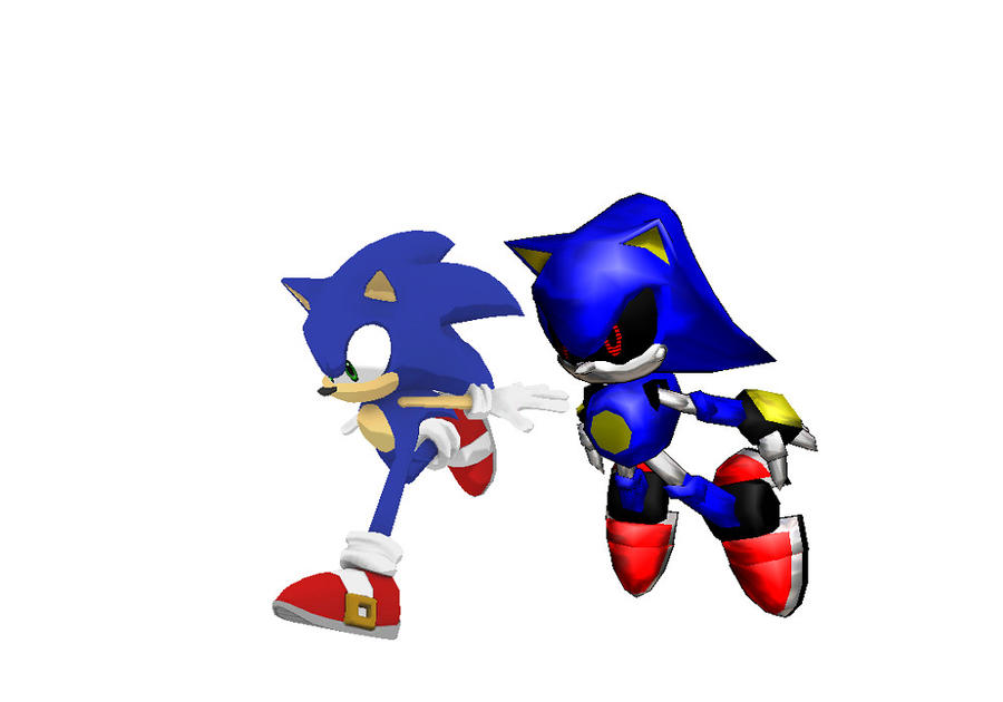 MMD Sonic vs Metal by mitchika2