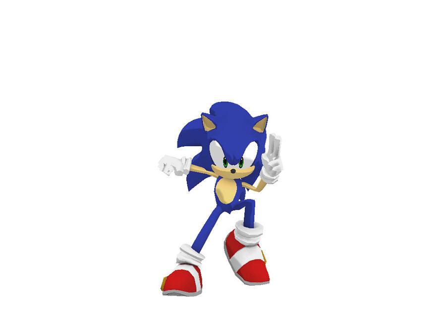 MMD Sonic finger dash by mitchika2