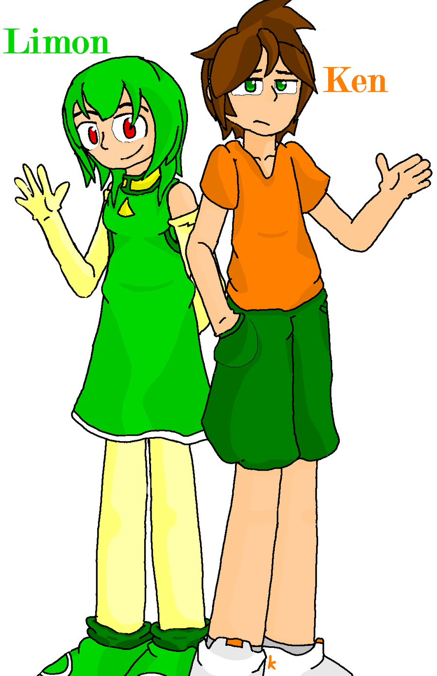 Ken and Limon - Shaded by mitchika2
