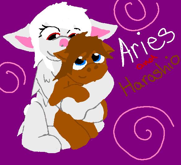 Aries and Harashio by mitchika2