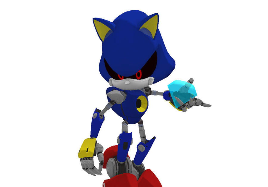 Metal Sonic's emerald grab by mitchika2