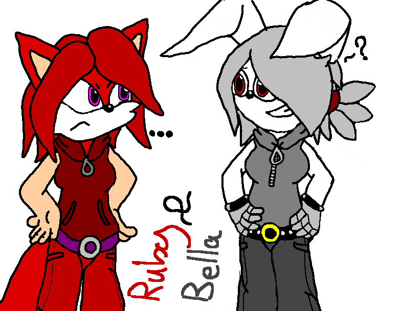 Your wearing my clothes... -Bella and Ruby- by mitchika2