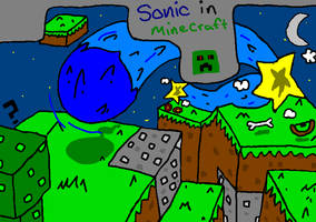 Sonic in minecraft by mitchika2