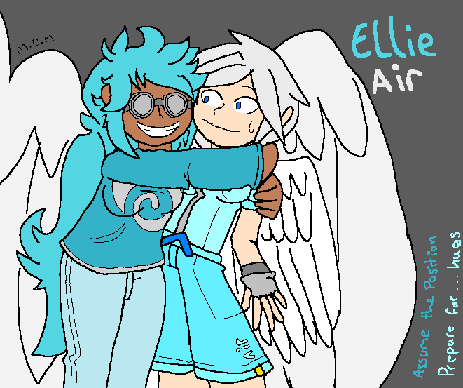 [Art Gift] Ellie and Air by mitchika2