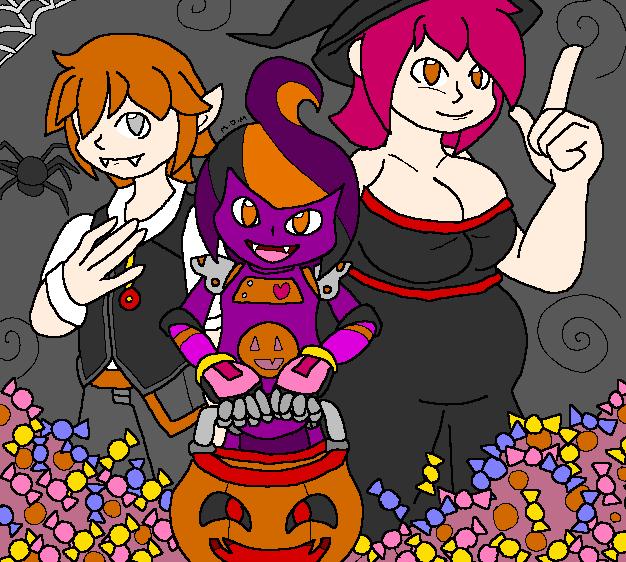 Halloween Choc and Friends 2016 by mitchika2