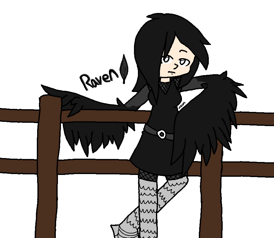 Harpy Raven by mitchika2