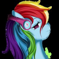 Rainbows's Headphones by Winterrrr