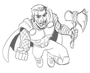 Thor Sketch by hqbrum-art