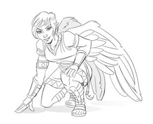 Quick Sketch - Angel by hqbrum-art