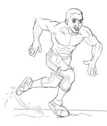 Quick sketch- running by hqbrum-art
