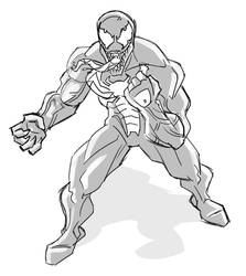 Quick sketch - Venom by hqbrum-art