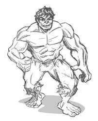 Quick sketch - Hulk by hqbrum-art