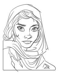 Quick sketch - Afghan girl by hqbrum-art