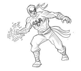 Quick sketch - Iron Fist by hqbrum-art