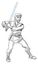 Quick sketch - Jedi by hqbrum-art