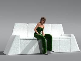White Couch by kratzdistel