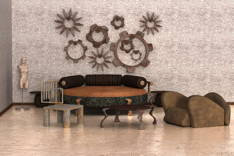 Steampunk bedroom w i p 6 by kratzdistel on deviantart for Steampunk bed