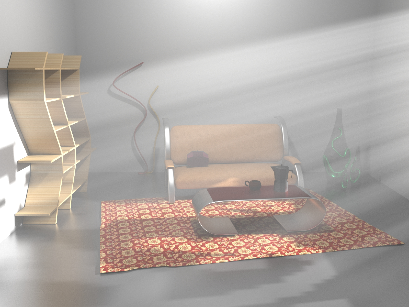 Room With Atmospheric Lighting