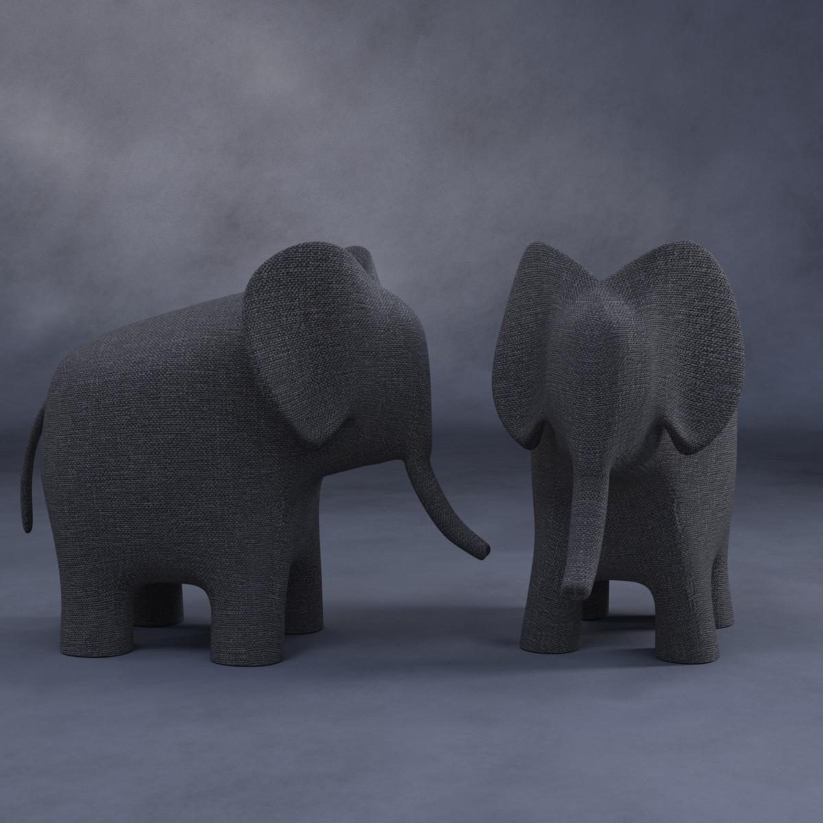 DAZ Freebie: Deco elephant