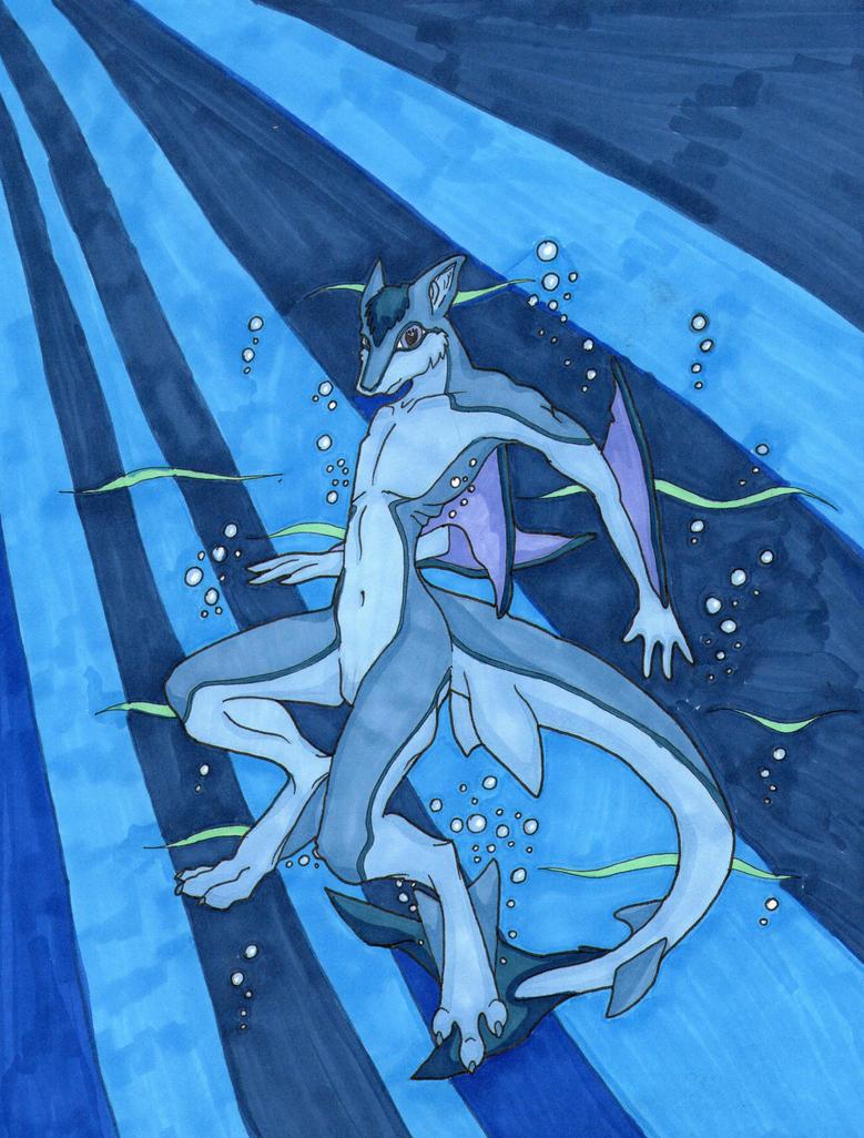 Shark hybrid drawing - photo#24