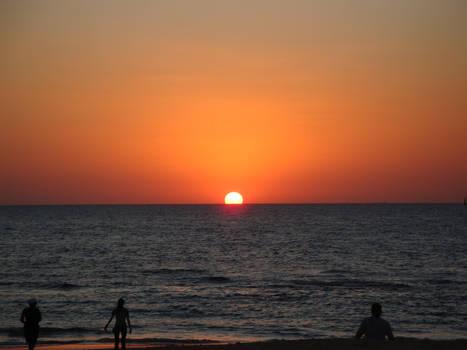 Sunset at Caesarea Maritima