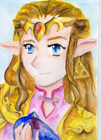 ZELDA WITH OCARINA by KathyPhantomhive