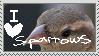Stamp: I Love Sparrows. by Knob-Gecko