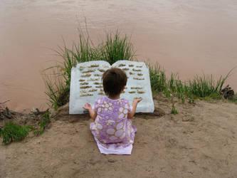 Cleo Reading Melting Ice Book by birland