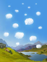 Fluffy Clouds by ladameblanche