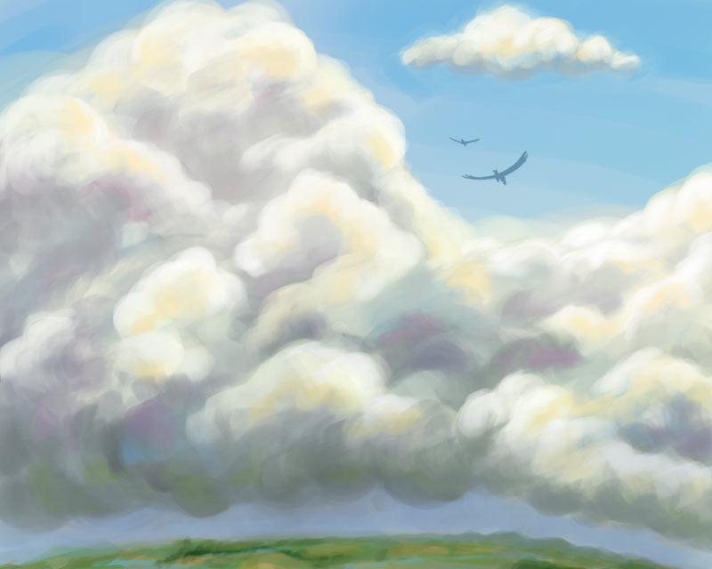 Speedie - Cloudy Day by ladameblanche