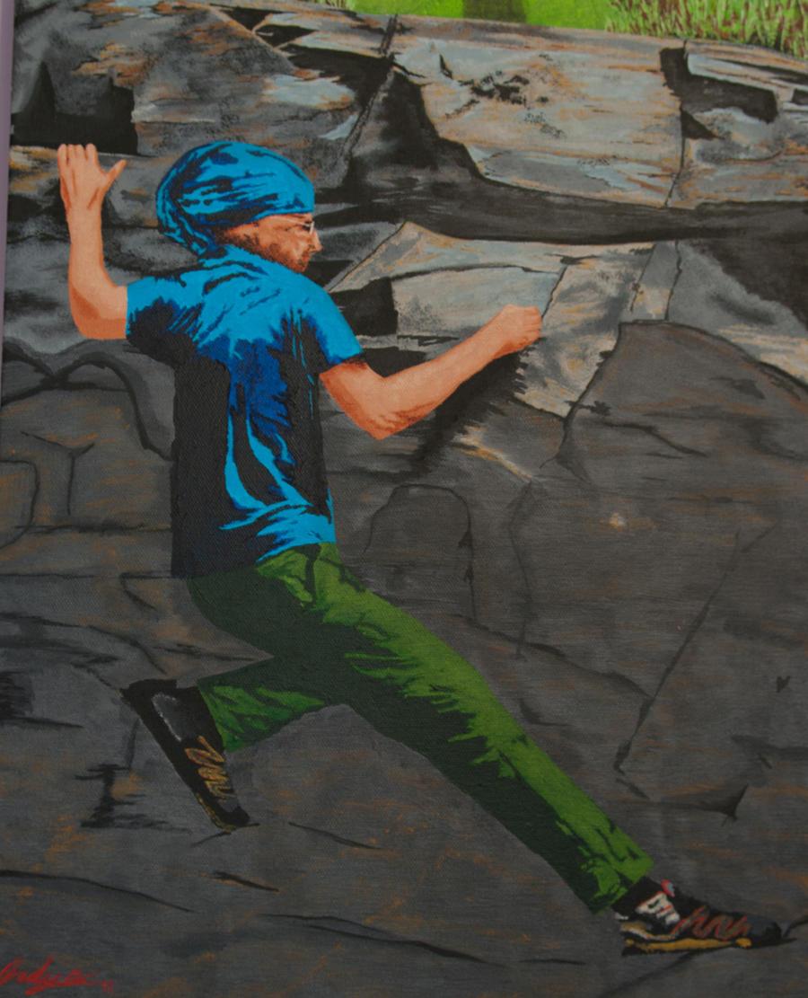 Bouldering by CragratArt